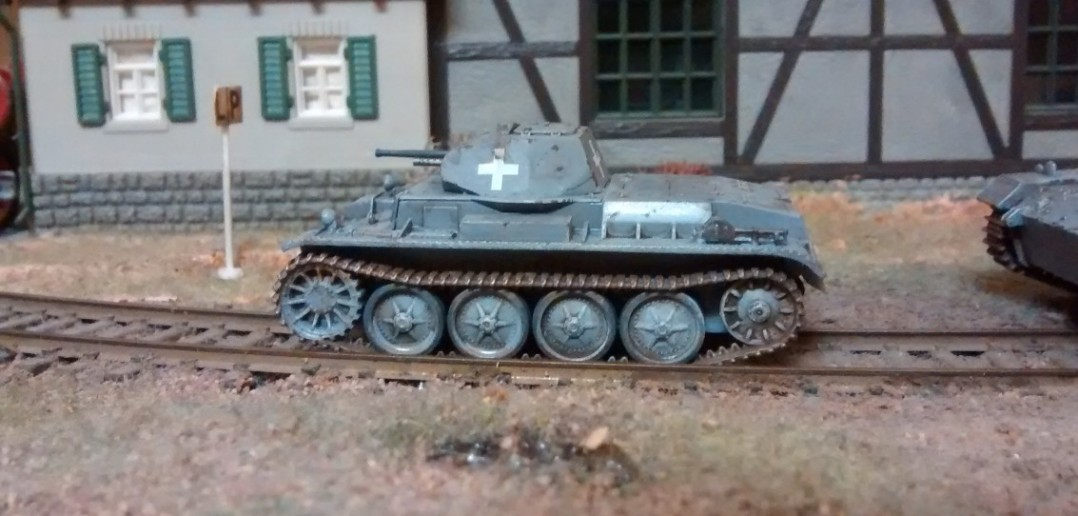 Der Panzer II D/E  mit seinen charakteristischen vier Laufrollen.