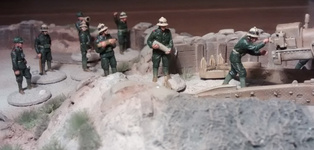 Die Bedienmannschaft der Cannone da 149/40 modello 35.