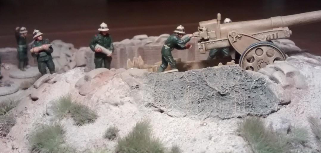 Im Gefechtsbetrieb: Die  Cannone da 149/40 modello 35.