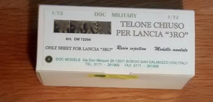 """Das """"Nachrüst-Verdeck"""" für den LANCIA 3RO von DOC Military"""
