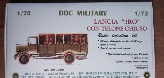 DOC Military 72308 LANCIA 3RO con Telone Chiuso