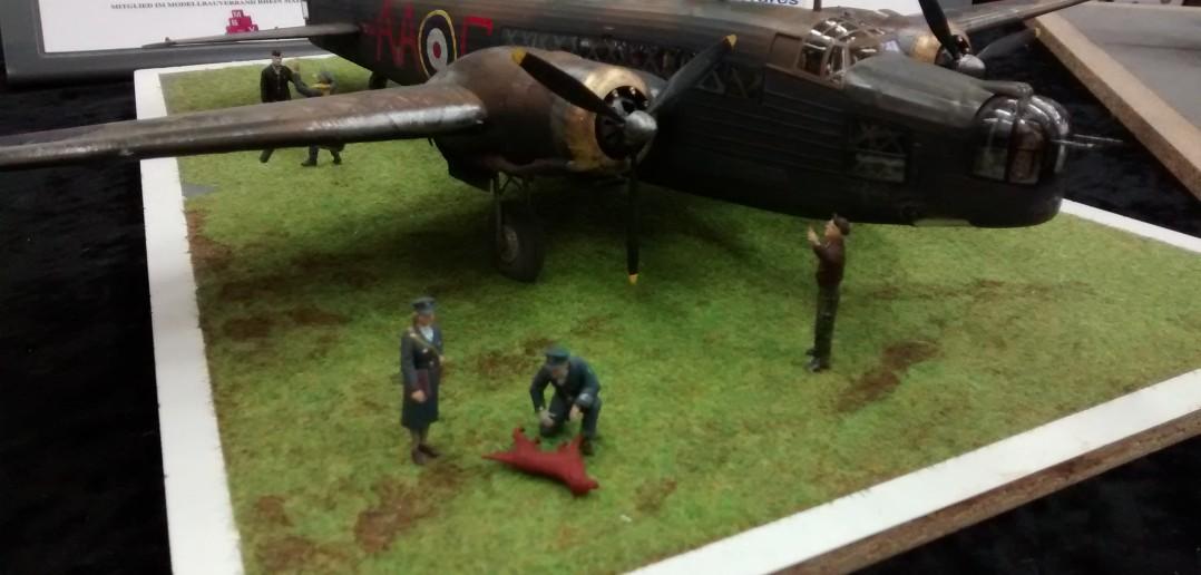 Vickers Wellington mit Staffel-Maskottchen