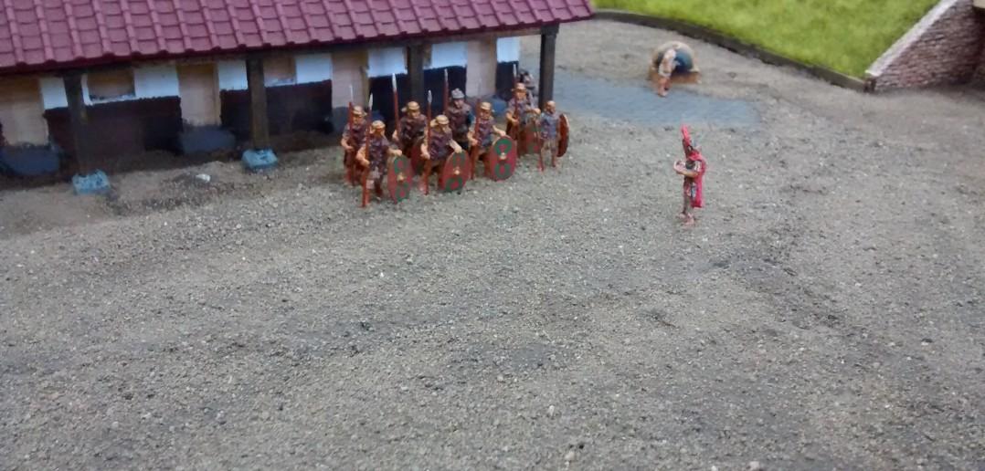Diorama Römerkastell: Exerzierübungen der römischen Legionäre