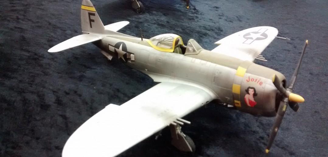 P-47 Thunderbolt, ein Modell von Peter Rastätter von den Modellbaufreunden Mannheim