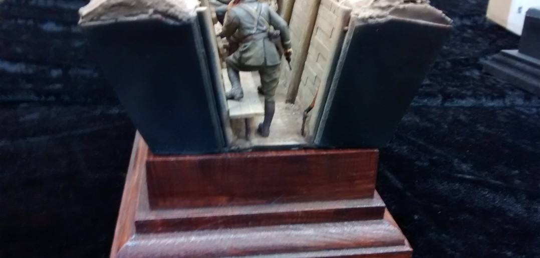Schützengraben-Szene