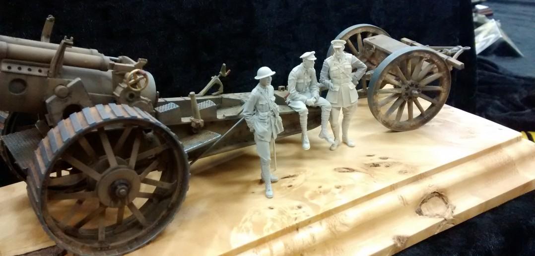 Britische Haubitze des I. Weltkriegs