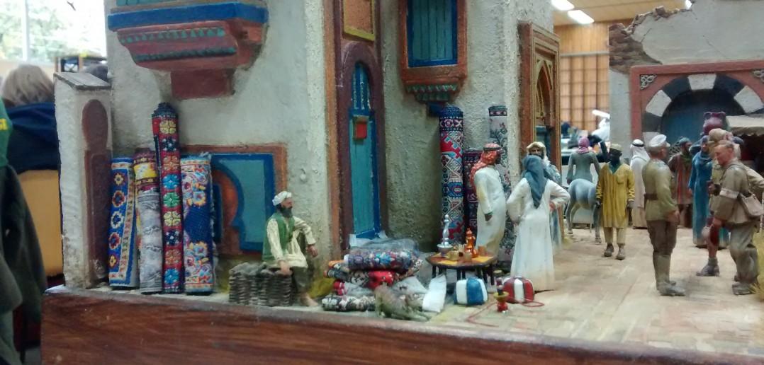 "Diorama ""Arabischer Basar"" im Maßstab 1:32"