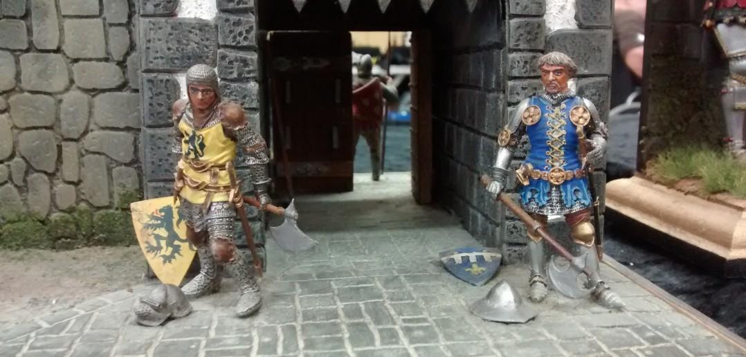 Ritter vor dem Burgtor