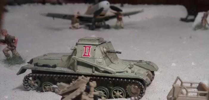 Hinter dem Panzerbefehlswagen I ist die Messerschmitt in ihrer Box zu erkennen.