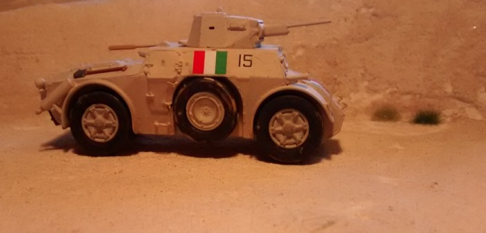 Der Autoblinde 43 mit seinen sehr großen Reifen.