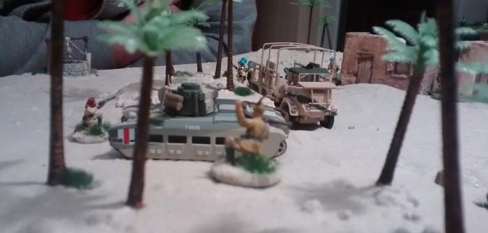 Auch der Offizier stürmt mit nach Vorne. Zumindest bis auf die Kuppe der Düne