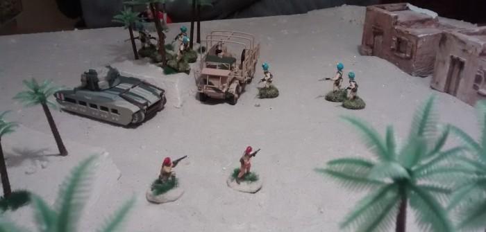 Auf italienischer Seite wird es nun eng. Die Truppstärke fällt auf 0-0-2, nachdem auch der Offizier flöten ging.