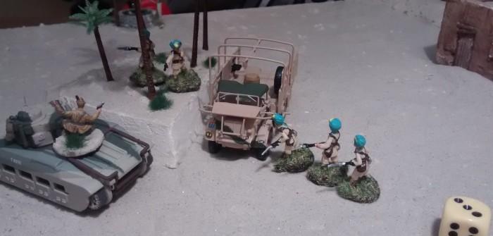 Fünf Mann im Trupp; einer davon wird noch zum Offizier gemacht, das werden sieben Würfel sein...
