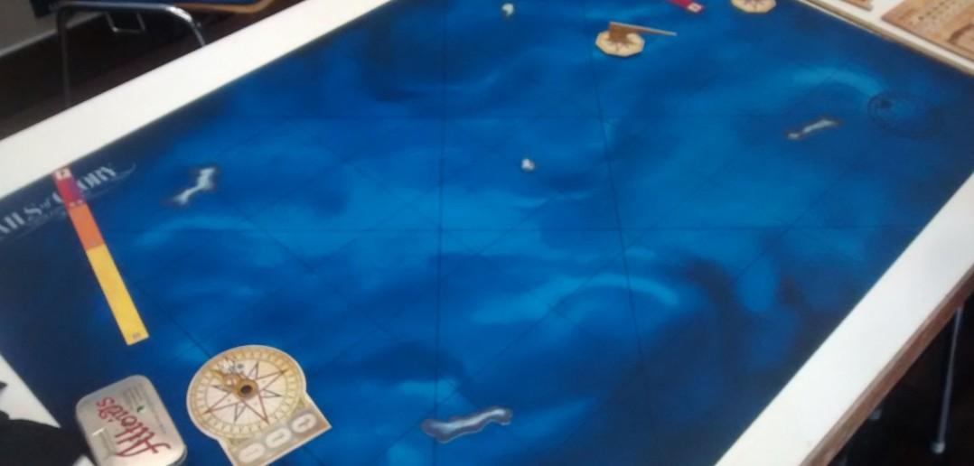 Spielfeld von Sails of Glory Line.