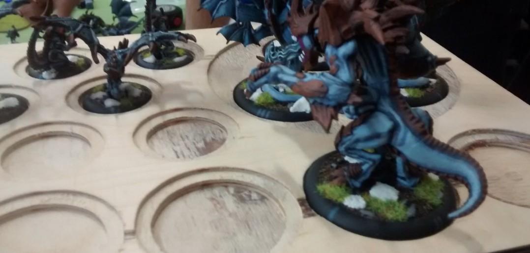 Der geübte Spieler hält Ordnung. Jedem Drachen wird ein Plätzchen im hölzernen Drachenhorst zugewiesen.