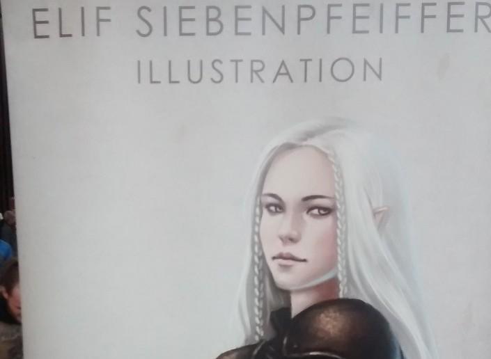 Elif Siebenpfeifer - eine der anwesenden Künstlerinnen