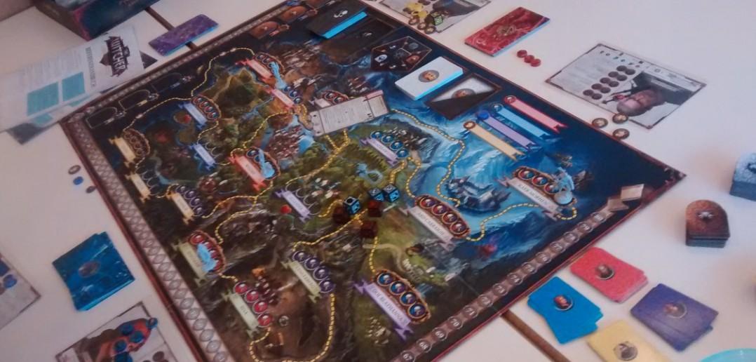 """Das Spielfeld des Brettspiels """"The Witcher"""" aus dem Heidelberger Spieleverlag."""