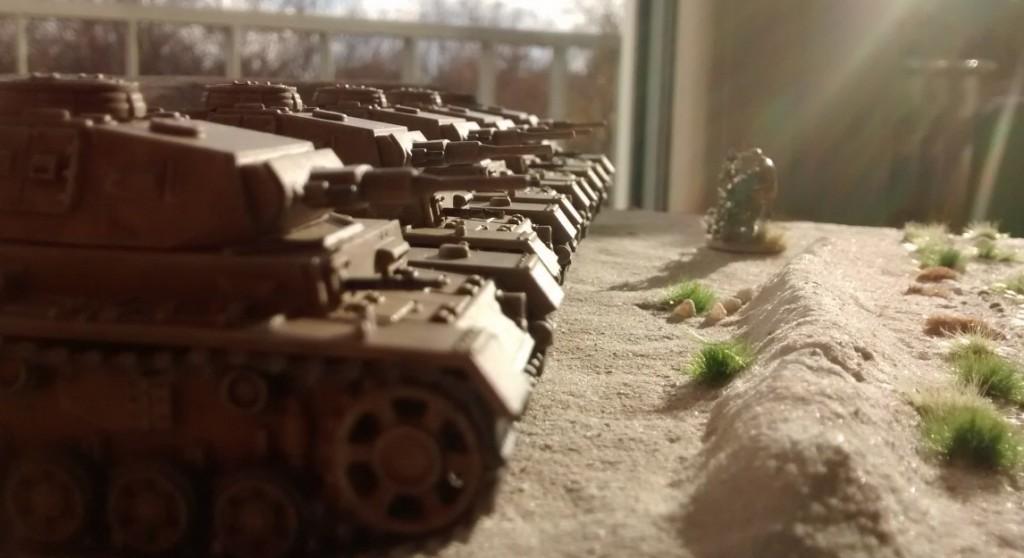 Und nochmal von der Seite... Kein Panzer III Ausf. M, aber einige nette Geschwister...