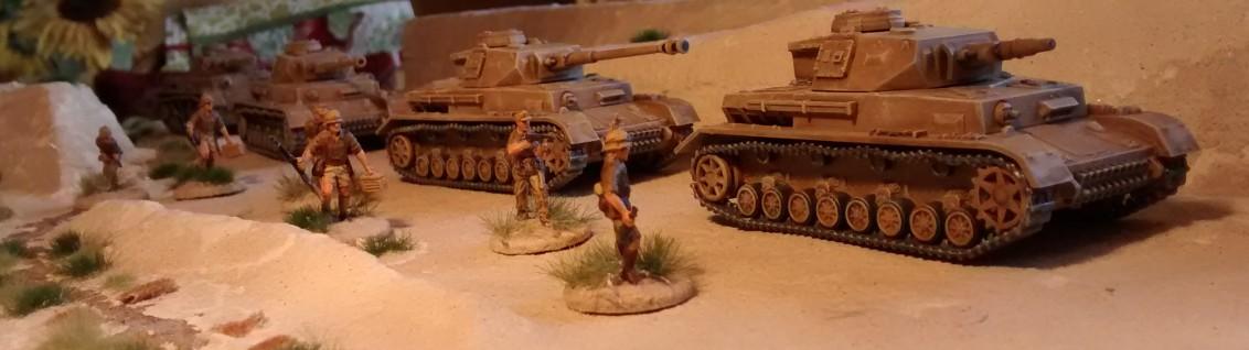 Die ganze Phalanx der Panzer IV des DAK