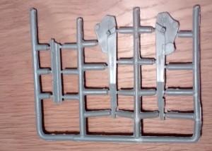 Gussast 2: Weitere Teile der Lafette und der Rohrbettung.