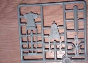 Gussast 1: Teile der Lafette und der Rohrbettung.