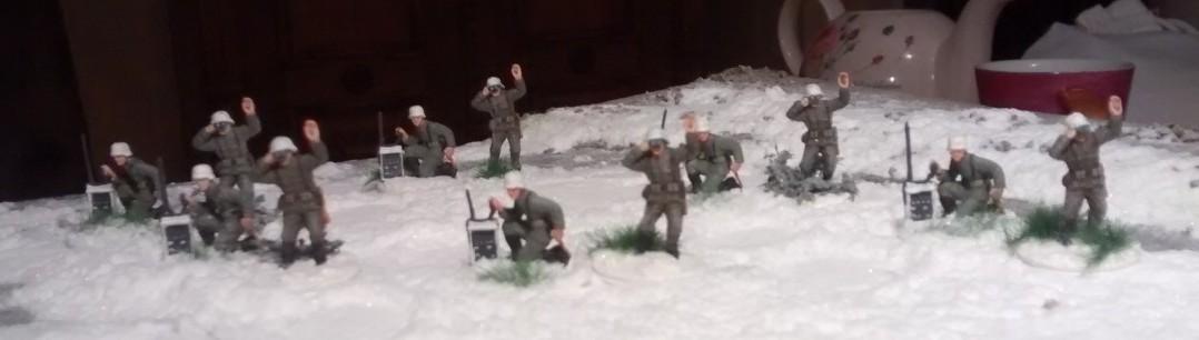 Alle sechs Trupps Artilleriebeobachter