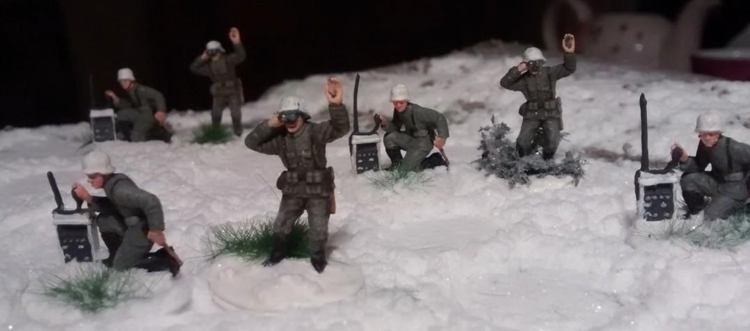 Detailansicht der Artilleriebeobachter.