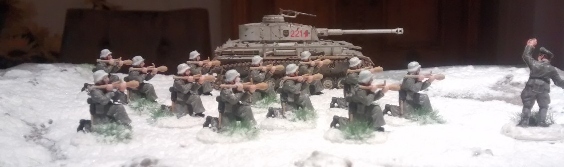Panzerfaust-Schützen im Winter.
