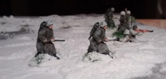 Alle vier Flammenwerfer-Schützen.