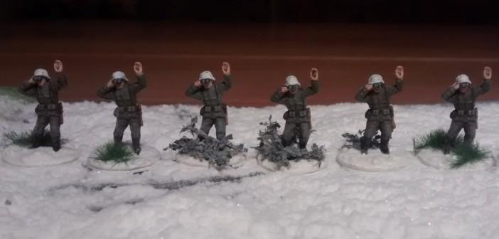 """Die sechs Artillerie-Beobachter. Die zugehörigen Funker sind noch bei der """"Einkleidung""""."""
