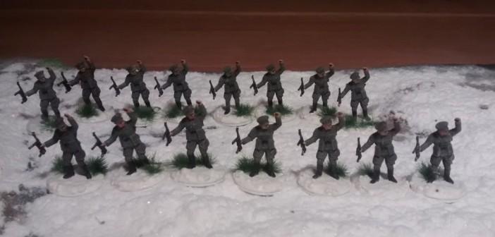 Alle 15 Offiziere der 14 Trupps.