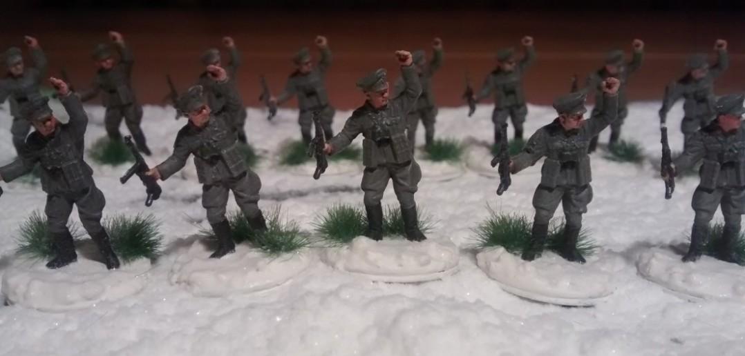 Die Herren Offiziere des Regiments in Großaufnahme.