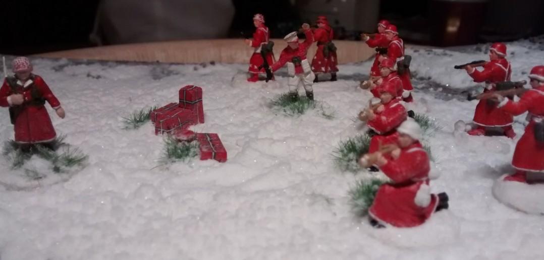 Weihnachtsmann in Uniform: Der deutsche 10er-Trupp Weihnachtsmänner ist nun vollständig.