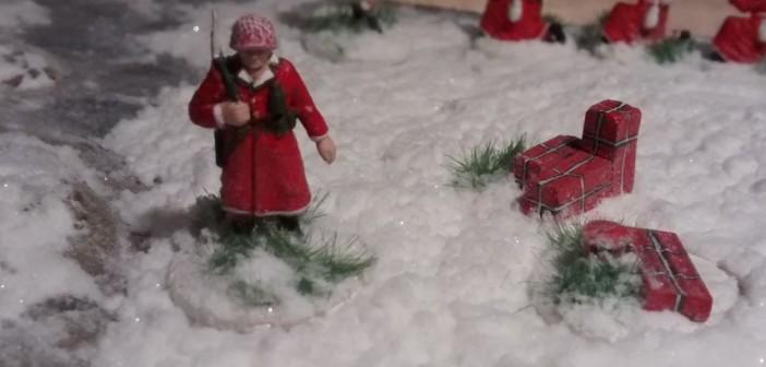 Auf alliierter Seite war die Zeit sehr knapp. Da hat es leider nur für einen Weihnachts-GI gereicht.