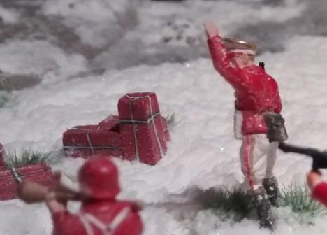 Der Herr Offizier der deutschen Weihnachtstruppe.