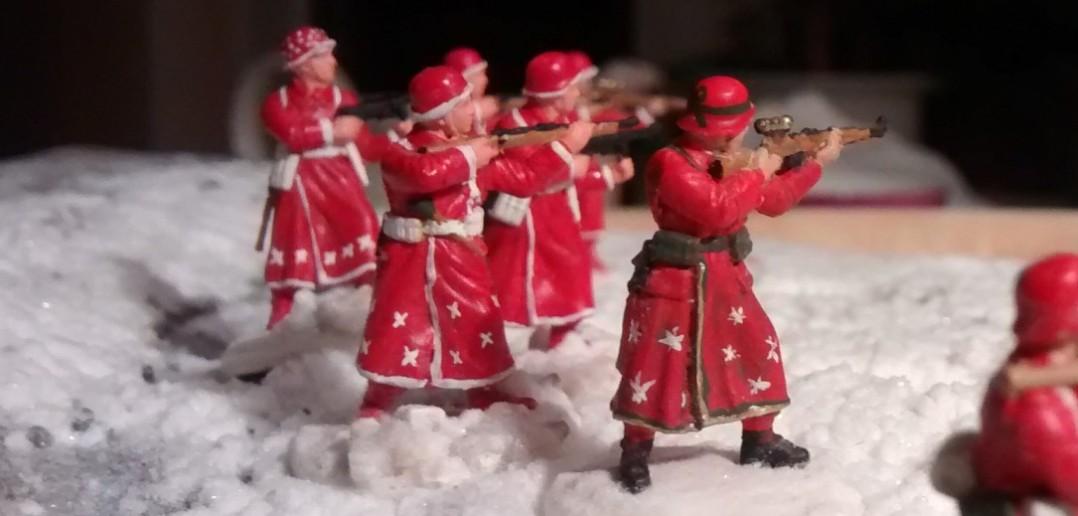 Die sechs Schützen des deutschen Weihnachts-10er-Trupps.