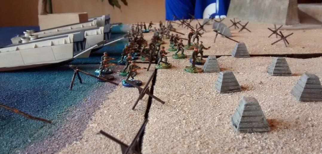 In der vierten Runde gehen die ersten kanadischen Truppen an Land.
