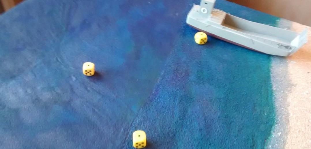 Der nächste Artillerieschlag auf die anlandenden Truppen wird buchstäblich ein Schlag ins Wasser.