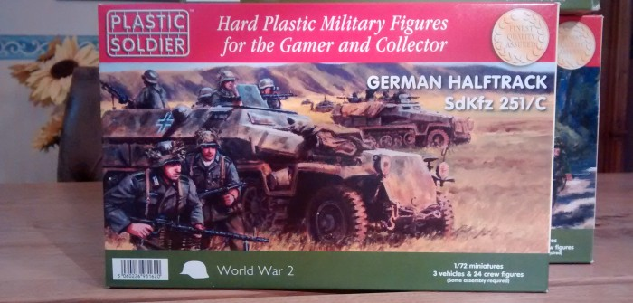 PSC Plastic Soldier Company WW2V20003 German Halftrack Sd.Kfz.251/C, 1:72, 20mm