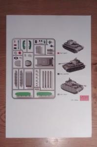 Seite 1 der Bauanleitung des Panzer IV der Plastic Soldier Company.