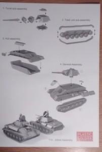 Vorderseite der Bauanleitung des PSC T-70