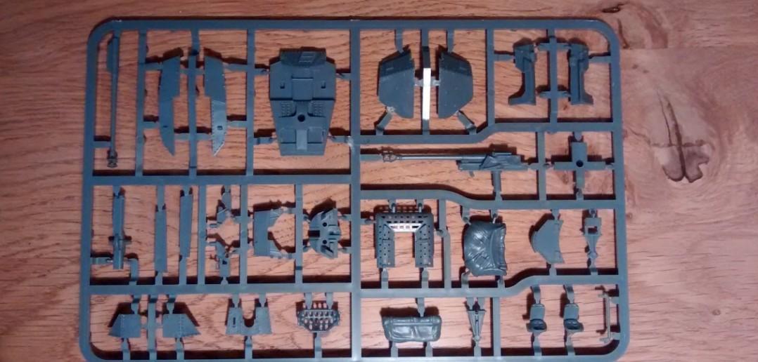 Die Vorderseite des dritten Bitz des Panzer 38(t) / Marder Bausatzes der Plastic Soldier Company