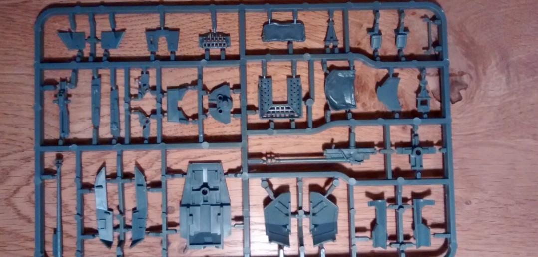 Die Rückseite des dritten Bitz des Panzer 38(t) / Marder Bausatzes der Plastic Soldier Company