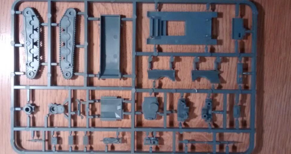 Die Rückseite des zweiten Bitz des Panzer 38(t) / Marder Bausatzes der Plastic Soldier Company