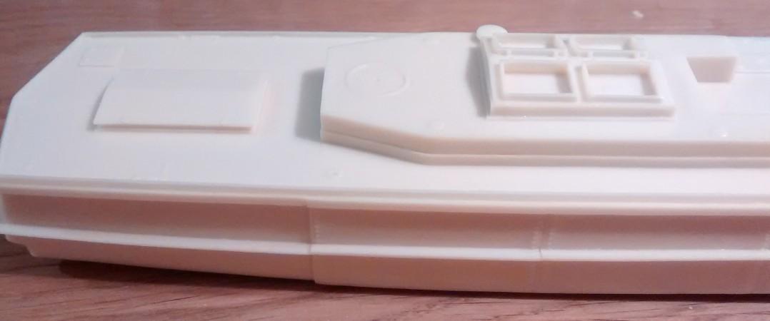 Der hintere Teil des Rumpfes des Bronekater BK-1125