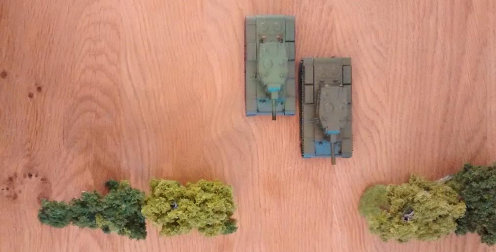 Wer ist im Vorteil? Die beiden KV-2 mit der hohen Schussfolge oder alternativ der höheren Zähigkeit?
