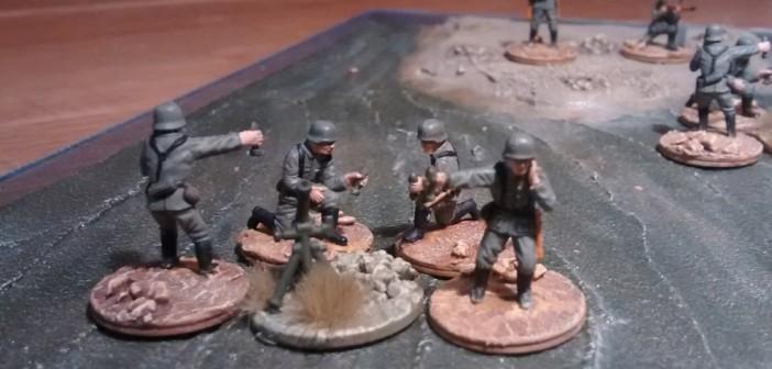 Zweiter 81mm-Mörser mit 4 Mann Bedienung.