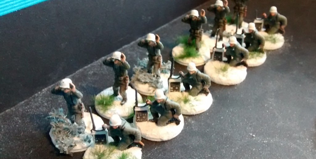 Zur Unterstützung kommen hier von Panzer-Artillerie-Regiment 4 sechs 2er-Trupps Artilerie-Beobachter.