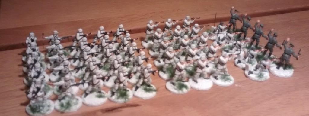 Die fünf 10er-trupps des I. Bataillon / Schützen-Regiment 103