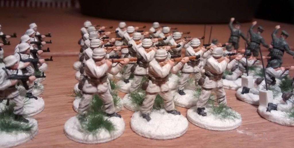 Drei Karabiner-Schützen
